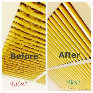 Air vent returns Before & After cleaning