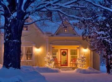 Romantic winter home
