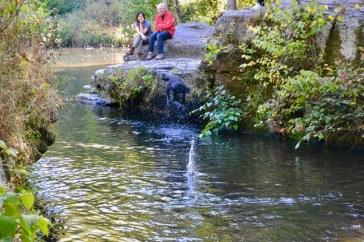 People watching Splash Jump